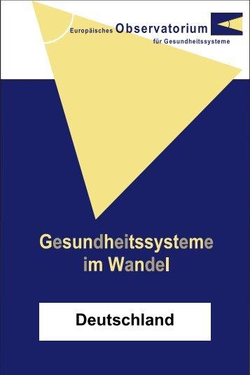 Deutschland Gesundheitssysteme im Wandel - World Health ...