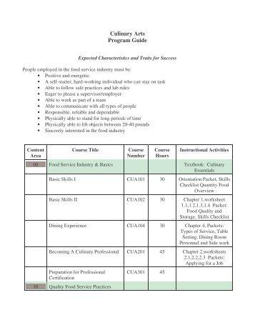 Culinary Arts Program Guide.pdf - Ects.org