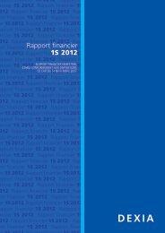Rapport financier 1S 2012 - Dexia.com