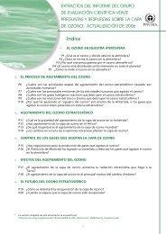 Extractos del informe del grupo de evaluación científica ... - UNEP