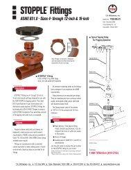 STOPPLE® Fittings ASME B31.8 4-16 - T.D. Williamson, Inc.