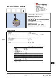 Rope length transmitter SL3002 ATEX - TR Electronic