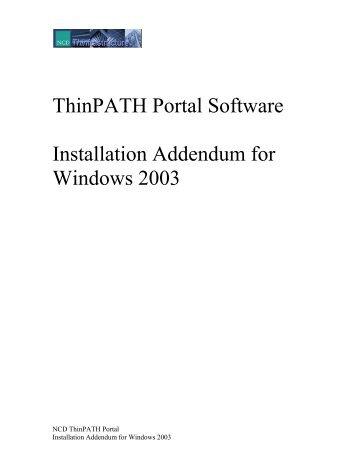 ThinPATH Portal Software - Ncd-x.com