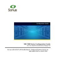 Cisco Unified Communications Manager 9.1 ... - Sonus Networks