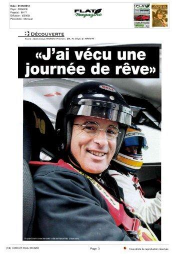 «J'aivécuune journéederêve» - Paul Ricard