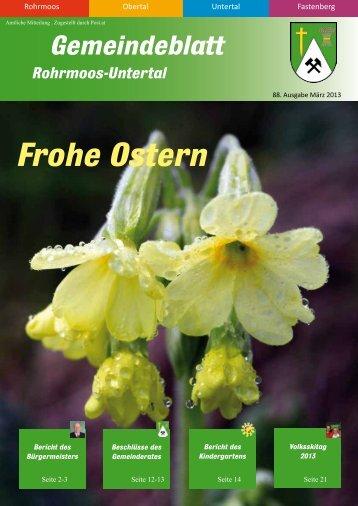 Ausgabe 2/2013 - Gemeinde Rohrmoos-Untertal