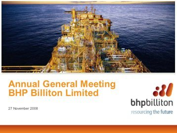 Presentation - Limited (PDF 1.5MB) - BHP Billiton