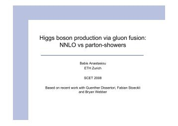 NNLO vs parton-showers - THEP Mainz