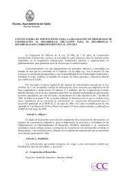 Bases Convocatoria 2013 - Ayuntamiento de Cádiz