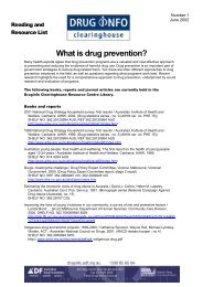 Reading list: [PDF: 99KB] - DrugInfo - Australian Drug Foundation