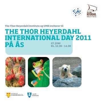 Invitasjon Thor Heyerdahl International Day 2011