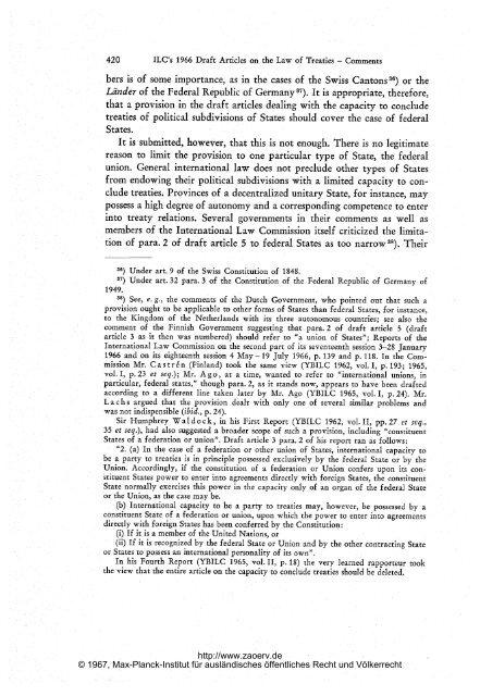 and their Capacity to conclude Treaties - Zeitschrift für ...
