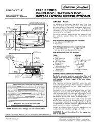 Installation Instructions - American Standard