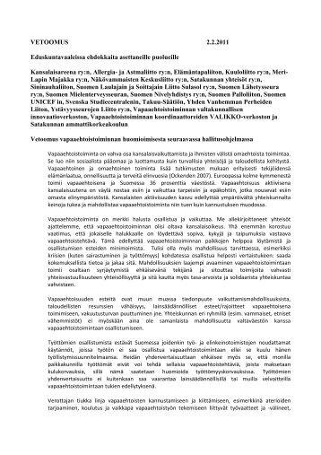 Vetoomus puolueille2 2 2011 - Kansalaisareena
