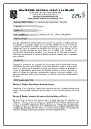 Gestión de Recursos Hídricos - Universidad Nacional Agraria La ...