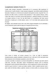 Profilo Plus Sarrabus 2008 - Sociale - Provincia di Cagliari