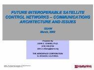Future Interoperable Satellite Control Networks - USC Center for ...