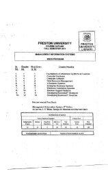 Management Information Systems - Preston University
