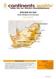 AFRIQUE DU SUD - Continents Insolites
