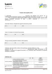 Verbale visita ispettiva (VVI) - Sardegna Agricoltura