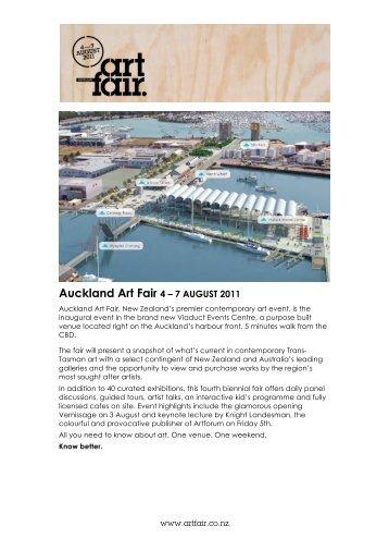 Auckland Art Fair 4 – 7 AUGUST 2011 - Auckland Art Gallery