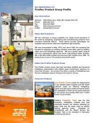 Fireflex Product Group Profile - SEI Industries Ltd.