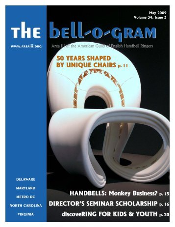 50 YEARS SHAPED BY UNIQUE CHAIRS p. 11 HANDBELLS - Area III