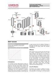1.01.00 Beet Sugar Process - K-Patents