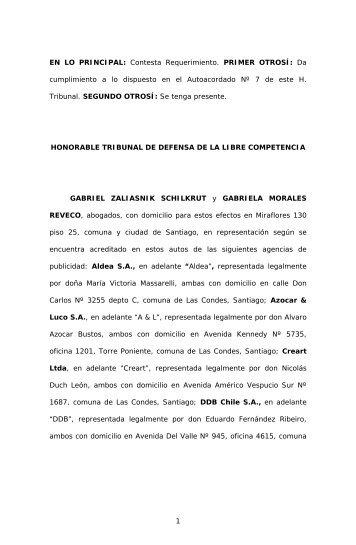 Contestación_Aldea y Otras_C_177_08.pdf - Tribunal de Defensa ...