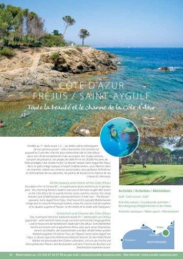 CÔTE D'AZUR FRéjUS / SAINT-AyGULF - Coralia