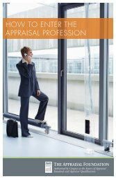 How to Enter the Appraisal Profession - American Society of ...