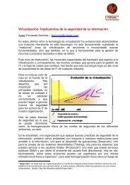 Virtualización: Implicancias de la seguridad de la ... - Cybsec