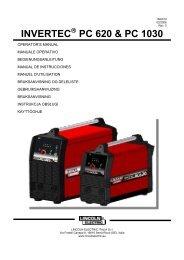 INVERTEC PC 620 & PC 1030 - Lincoln Electric - documentations