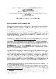AL LGEMEINEVERTRAGSBEDIN GUNGEN zur Vereinbarung A ...