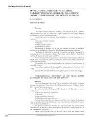 266 Învăţământul farmaceutIc În cadrul unIversItăţII ... - Clujul Medical