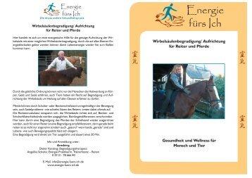 Wirbelsäulenbegradigung/ Aufrichtung für Reiter und Pferde ...