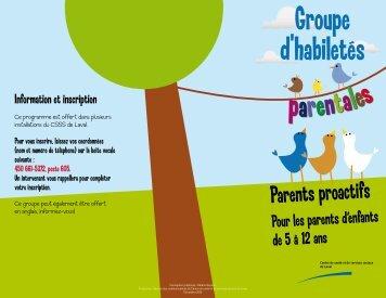 Dépliant - Parents proactifs - Centre de santé et de services sociaux ...