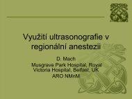 Regionální anestézie a kardiovaskulární onemocnění