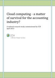 Cloud computing - a matter of survival for the accounting industry?