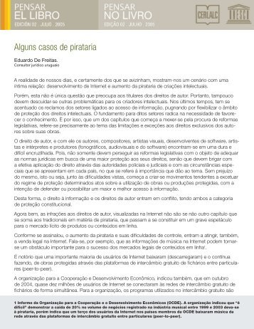 Alguns casos de pirataria - Cerlalc