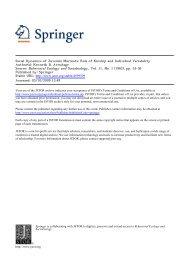 Social Dynamics of Juvenile Marmots - UCLA Department of ...