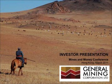 Investor Presentation March 2011 (Mines and ... - General Mining