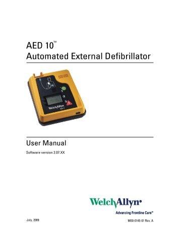 AED 10 User Manual - Welch Allyn