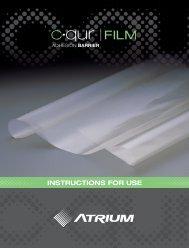 INSTRUCTIONS FOR USE - Atrium Medical Corporation