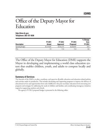 Public Education System, GW0 Chapter 2013 - Office of the Chief ...