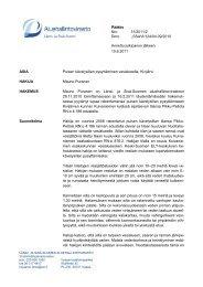Päätös Nro 51/2011/2 Dnro LSSAVI/124/04.09/2010 Annettu ...