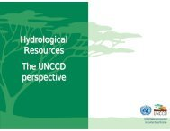 Hydrological Resources The UNCCD perspective