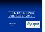 Les insulines utilisées en 2008 - ammppu