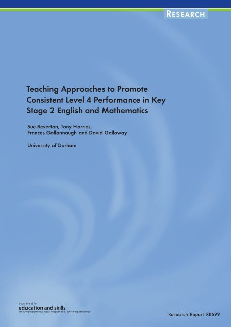 Teaching Approaches to Promote Consistent ... - Learning Wales
