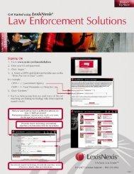 LexisNexis® Investigative Portal Quick Reference